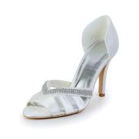 Free Shipping!Elegant Satin Womens Peep Toe Wedding Shoes Stiletto Heel CY0245