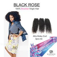 Top quality brazilian beauty hair 3 pcs 6A brazilian virgin hair extension Wholesale Kinky Curl human hair weaves free shipping