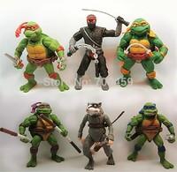 Animation around 6 pcs Teenage Mutant Ninja Turtles TMNT87 animated version  movable nostalgic toy doll