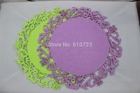 whole sales,laser round multii color felt placemat/table mat size: dia 35CM