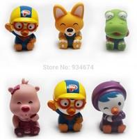 Classic Bath Toys Korea Hot Pororo Penguin Reborn Babies Pool Water Toys 3pcs/Set Free Shipping
