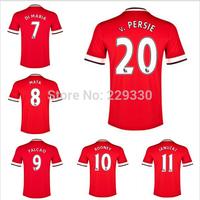 new 2014/ 2015 MATA Rooney Van v. Persie Giggs beckham Soccer Jersey 2014 Manchester Home Away Football Kit Shirt Custom Name