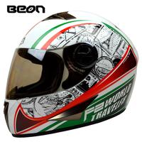 New arrival brand BEON B-500 Full Face Helmet Classic Motorcycle Helmets motociclistas capacete Kart Racing Helmet ECE Approved