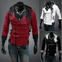Free shipping 2015 Autumn and Winter Fashion Slim Cardigan Hoodies Sweatshirt Outerwear jackets Men.Brand Causal Sports