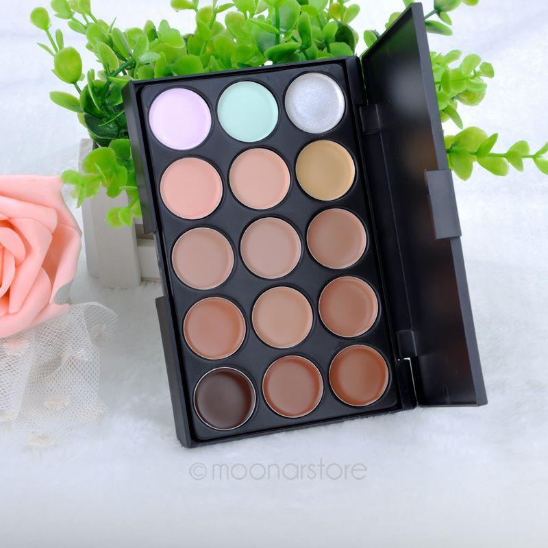 Professional 15 Colors Concealer Foundation Contour Face Cream Makeup Palette Salon/Party/Wedding/Casual ZMPJ034#S2(China (Mainland))
