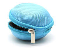 Free Shipping Round Storage Bag earphone Carring Case For Earphone Earbud cable(China (Mainland))