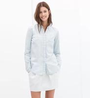 YG531-1 Hot!!! new 2014 autumn women denim blouse fashion shirt band ladies blusa long sleeve camisa jeans feminina freeshipping