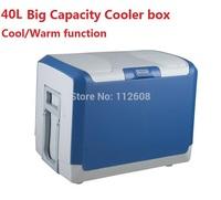 Free shipping  12v car fridge 40 litre car refrigerator portable fridge cool and warm function
