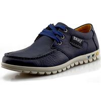 DE 2014 Men Loafers Genuine Leather England Men's Oxfords Shoes Casual Sport Shoes for Men Flat Platform Sneakers BLack