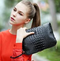 2014 new arrival genuine leather women crocodile clutch bag shoulder bag messenger bag Day clutch handbag free shipping