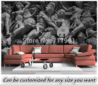 Free shipping custom 3D wallpaper wall Continental Roman sculpture like retro art bedroom, living room TV backdrop wallpaper