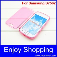 For Samsung Galaxy Trend Duos S7560 phone case,ultra thin flip transparent tpu cover case for Samsung Galaxy Trend Duos S7562