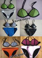 2014 High quality free shipping hot selling triangl NEOPRENE BIKINI Superfly Swimsuit Neoprene Swimwear