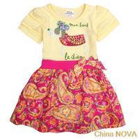 pants shorts  kids ching printed lovely cartoon animal cotton tunic top girls summer princess party dresses