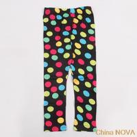 casual dress  Black Y-Y pieces  printed beautiul polka dots  spring  autumn long pants or baby girls antasia inantil