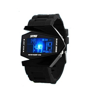 Hot Sale Watch Led watch Bomber Flashlight LED+12/24Hrs Military Force Sport Digital Calendar Cuff Watch (12 color)