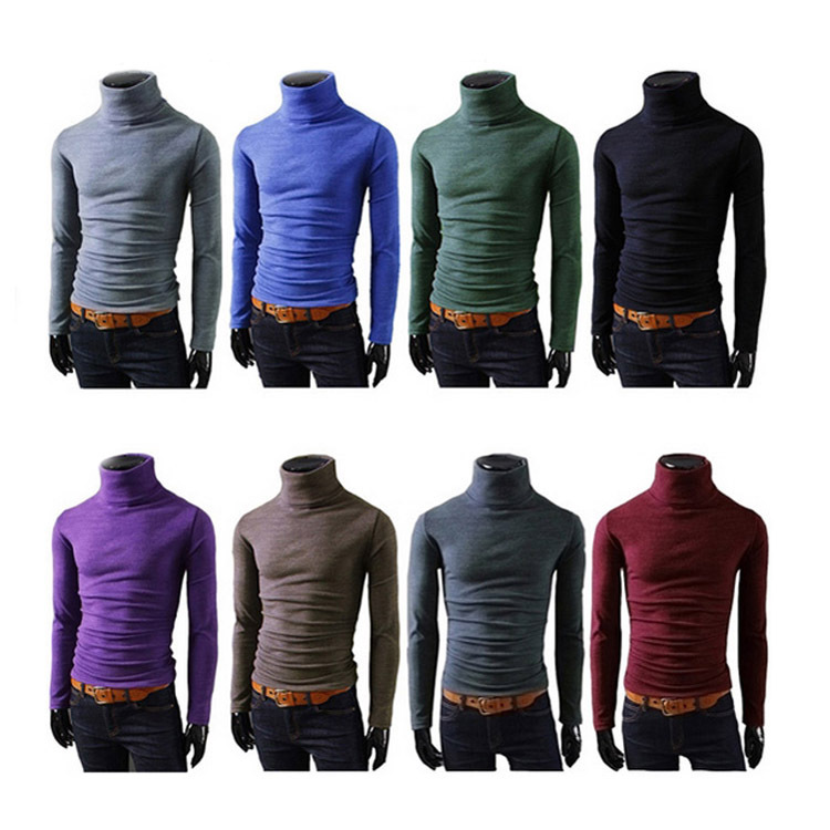 2014 NEW Men Winter WarmTurtleneck Pullover Thermal Sweater Multi color option Solid design Soft and Warm MF-8596(China (Mainland))