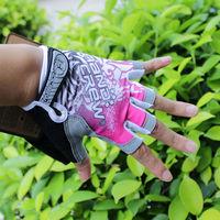 2014 Pink Women Cycling Gloves Half Finger Gel Bike Bicycle Gloves AG2104-P-L