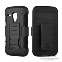 2014 New Future Armor For Motorola Moto G DVX XT1032 Hybrid Case Cover + Belt Clip Holster Stand Phone bags Cases
