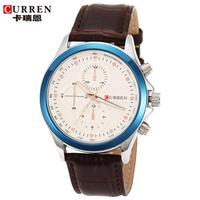 100% Original Curren Watches Men Luxury Brand Golden Leather Band Quartz Analog Business Men Dress Watches