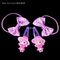 Wholesale 20pcs Clips + 20pcs Hairband Mix Colour Little Girl Baby Kid Children Girl Hair Pin Clips Hair Jewelry Free Shipping