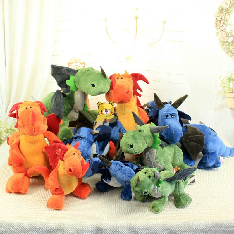 Free ship 1pcs Dinosaur Plush Doll Stuffed Classic Dinosaur Toys 25cm 5014/5(China (Mainland))
