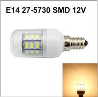 Led E14 27-5730 SMD AC DC 12V 24V 4W 6000K Light Corn StyleBulb Indoor Corridors And Office Transparent shell