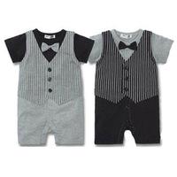 Foreign trade modeling Romper Wholesale 2014 summer models vest gentleman Romper baby coveralls baby clothes burst models c114