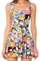 YWNN 3D Digital Printed Knitted Vestidos Femal Bodycon Dress New Summer Women Dresses Fashion Casual Dress