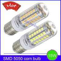 5pcs x 15W E27  SMD 5050 led bulbs 69led SMD corn bulb with cover outdoor led lighting bulb AC220V