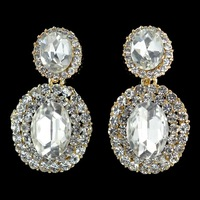 New Arrival! 2014 Summer Romantic Glass Rhinestone Earrings For Evening Dress