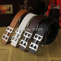 2014 South Korea new fashion brand Men joker Smooth buckle belts,Men's Lady 100% PU belt+Metal belts buckle female Free shipping