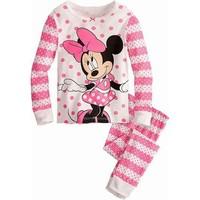 kids girls toddler Christmas pajamas new 2015 clothing set children pants children hoodies mikey girls autumn peppa pig