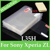 10X New Clear glossy Screen Protector Guard Cover Film  For Sony Xperia ZL L35h L35a C6506 C6502 C6503  FM-SO-L35H