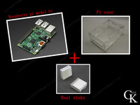 3 IN 1 Rev 3.0 512 ARM Raspberry Pi model b plus Project Board Model B plus + 2 heat sinks + 1 board case All 4pcs/lot