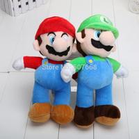 10''25cm High Quality Super Mario MARIO LUIGI plush Toy Dolls Doll for kids