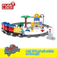 FUNLOCK Duplo New Building Blocks Electric Train toys for Kids 50pcs, MF014447C