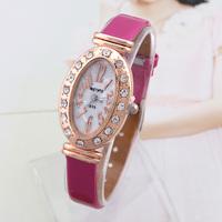 Women Dress Watches Brand New Fashion Casual 2014 Quartz Watch Smart Analog Wristwatches Oval women Rhinestone watch Discount