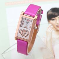 Quartz Watches Smart New Fashion 2014 Women Dress Watch Hot Sale Wristwatch Analog Quartz Rectangle women Rhinestone watch
