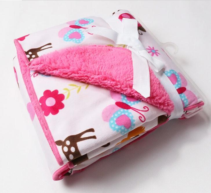 Children double thick blanket infant children baby blanket Carter's baby blanket newborn bedding set aden anais manta bebe(China (Mainland))