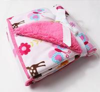 Children double thick blanket infant children baby blanket Carter's baby blanket newborn bedding set aden anais manta bebe
