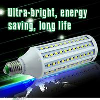 2014 NEW 220V E27 led corn light 5050 132LEDs Warm White/White 22W Led Light SMD High Power Super Bright  1pcs Free shipping