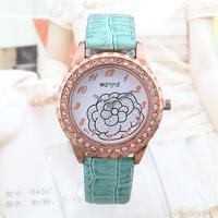 Women Rhinestone Watches Brand New 2014 Fashion Ladies Quartz Watch Round Analog Wristwatch Relogio Feminino women Dress watch