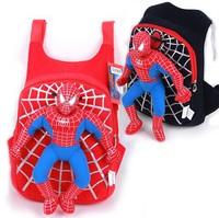 2014 New High Quality Cute spiderman boys school bag backpack, children bags infantil mochilas red / black color