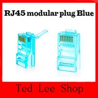 Free shipping 100pcs RJ45 RJ-45 CAT5 CAT6 Modular Jack 8P8C Plug Network Ethernet Connector 8 Pins Lan Network Cable Heads