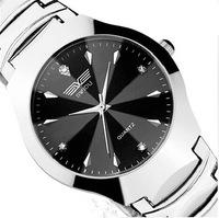 beatiful electronic 2014 new watch women Fashion Luxury business Women men Wristwatches Steel belt Clocks Quartz Watches