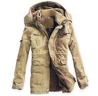 free shipping New Arrivals 2014 Men winter dress  Jacket Winter Down Parka Man Overcoat 3 colors Men cotton-padded jackets