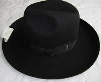 Black Israel Jewish Hat 100% Wool Felt Fedora Hat for woman man wide brim 10cm winter autumn vintage dress hat chapeau
