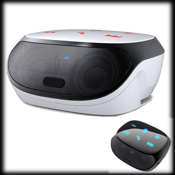 50% shipping fee 5pcs NFC HIFI Portable wireless Bluetooth Speaker fm radio double subwoofer loudspeakers mini USB(China (Mainland))