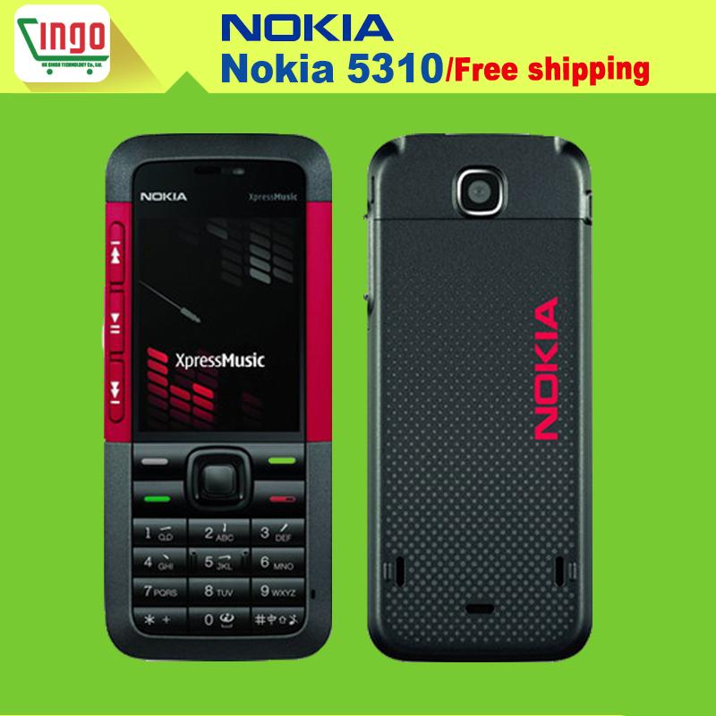 Téléphone mobile nokia 5310 5310 xpressmusic téléphone mobile bluetooth javacaméra mp3 russe. support clavier livraison gratuite